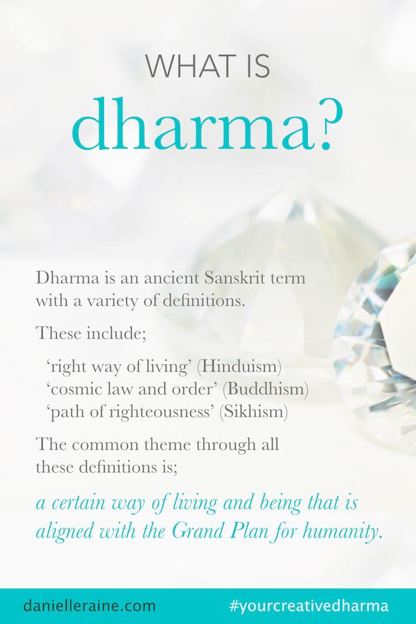 what is dharma pin your creative dharma danielle raine creativity coaching copy