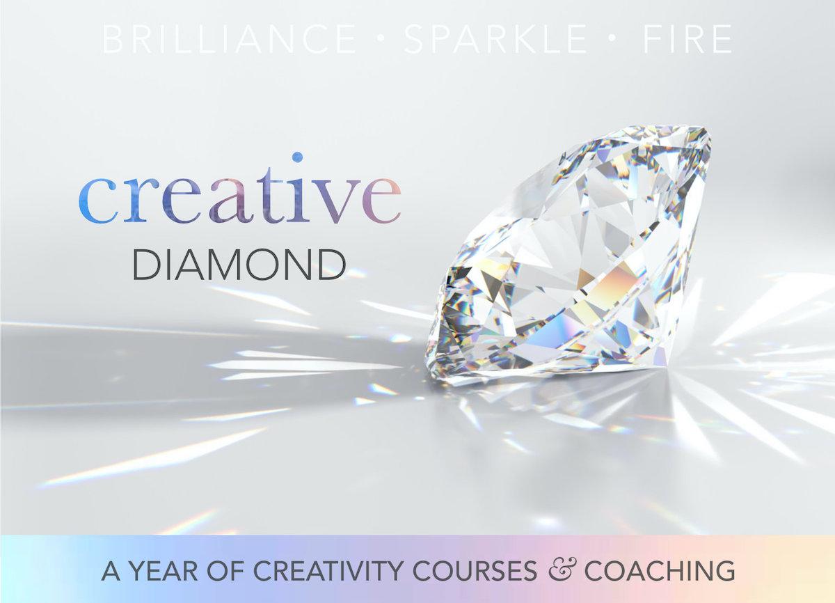 creative diamond creativity coaching courses year banner 1200