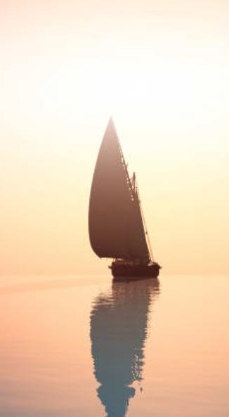 sunset sailboat silhouette